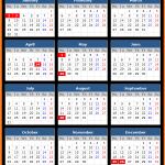 Scotland Holidays Calendar 2017